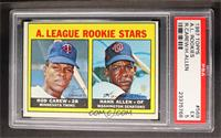 A. League Rookie Stars (Rod Carew, Hank Allen) [PSA 5]