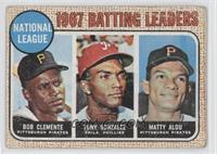 1967 NL Batting Leaders (Roberto Clemente,Tony Gonzalez, Matty Alou) [Good&nbsp…