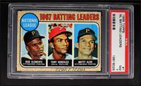 1967 NL Batting Leaders (Roberto Clemente,Tony Gonzalez, Matty Alou) [PSA…