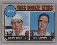 Reds Rookie Stars (Johnny Bench, Ron Tompkins) (Corrected