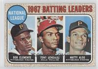 1967 NL Batting Leaders (Roberto Clemente,Tony Gonzalez, Matty Alou)