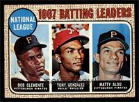 1967 NL Batting Leaders (Roberto Clemente,Tony Gonzalez, Matty Alou) [EXM…