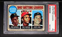 1967 NL Batting Leaders (Roberto Clemente,Tony Gonzalez, Matty Alou) [PSA …