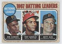1967 NL Batting Leaders (Roberto Clemente,Tony Gonzalez, Matty Alou) [Good&nbsp…