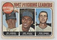 Jim Lonborg, Earl Wilson, Dean Chance
