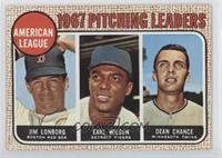 Jim Lonborg, Earl Wilson, Dean Chance (Correct: