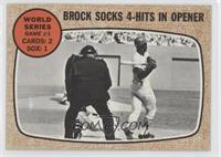 World Series Game 1 (Brock Socks 4-Hits In Opener)