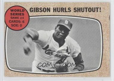 1968 Topps #154 - World Series Game #4 - Gibson Hurls Shutout!