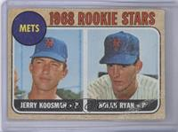 Rookie Stars (Jerry Koosman, Nolan Ryan) [Poor]