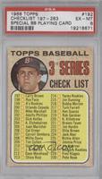 Topps Baseball 3rd Series Checklist (Carl Yastrzemski) [PSA6]