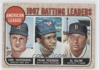 1967 AL Batting Leaders (Carl Yastrzemski, Frank Robinson, Al Kaline) [Good&nbs…