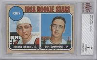 Reds Rookie Stars (Johnny Bench, Ron Tompkins) [BVG 7]