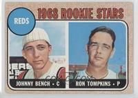 Reds Rookie Stars (Johnny Bench, Ron Tompkins) [GoodtoVG‑EX]