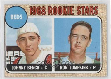 1968 Topps #247 - Reds Rookie Stars (Johnny Bench, Ron Tompkins)