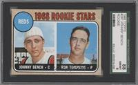 Reds Rookie Stars (Johnny Bench, Ron Tompkins) [SGC 88]