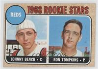 Reds Rookie Stars (Johnny Bench, Ron Tompkins) [Good to VG‑EX]