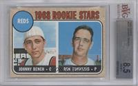 Reds Rookie Stars (Johnny Bench, Ron Tompkins) [BVG 8.5]