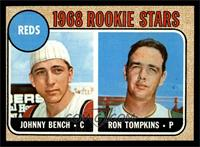 Reds Rookie Stars (Johnny Bench, Ron Tompkins) [EX]