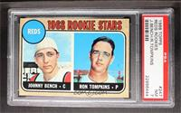 Reds Rookie Stars (Johnny Bench, Ron Tompkins) [PSA 7]