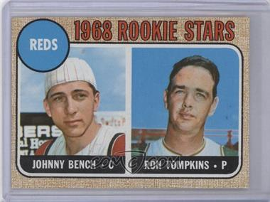 """1968 Topps #247.2 - Reds Rookie Stars (Johnny Bench, Ron Tompkins) (Corrected """"Impressed the Reds"""")"""