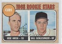Cubs Rookie Stars (Jose Arcia, Bill Schlesinger)