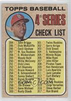 4th Series Checklist 284-317 (Orlando Cepeda)
