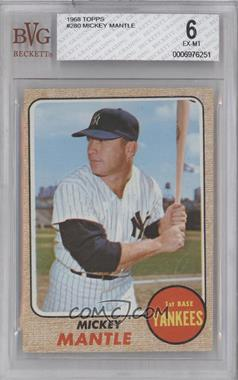 1968 Topps #280 - Mickey Mantle [BVG 6]