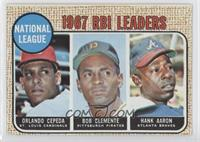 1967 National League RBI Leaders (Orlando Cepeda, Roberto Clemente, Hank Aaron)…