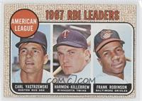 American League 1967 RBI Leaders (Carl Yastrzemski, Harmon Killebrew, Frank Rob…