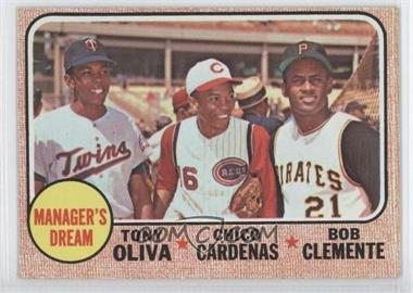1968 Topps #480 - Manager's Dream (Tony Oliva, Chris Cannizzaro, Roberto Clemente)