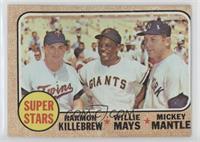 Super Stars (Willie Mays, Mickey Mantle, Harmon Killebrew) [Altered]