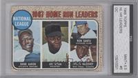 National Lague 1967 Home Run Leaders (Hank Aaron, Jimmy Wynn, Ron Santo, Willie…