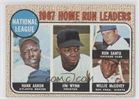 National Lague 1967 Home Run Leaders (Hank Aaron, Jimmy Wynn, Ron Santo, Willie…