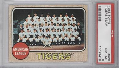 1968 Topps #528 - Detroit Tigers Team [PSA 8]