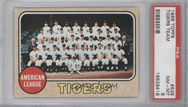 1968 Topps #528 - Detroit Tigers Team [PSA8]