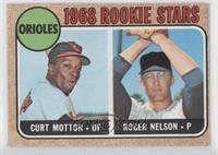 1968 Rookie Stars (Curt Motton, Roger Nelson) [GoodtoVG‑EX]