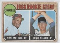 1968 Rookie Stars (Curt Motton, Roger Nelson) [Good to VG‑EX]