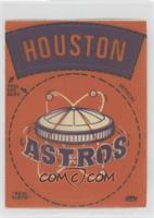 Houston Astros Round Logo (Letters Outlined in Black) [Poor to Fair]