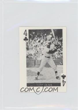 1969 Globe Imports Playing Cards - Gas Station Issue [Base] #4C - Tony Oliva
