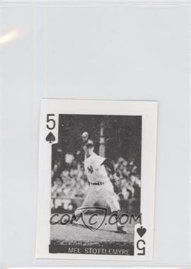 1969 Globe Imports Playing Cards - Gas Station Issue [Base] #5S - Mel Stottlemyre