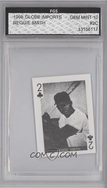 1969 Globe Imports Playing Cards Gas Station Issue [Base] #2C - Reggie Smith [ENCASED]