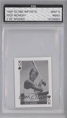 1969 Globe Imports Playing Cards Gas Station Issue [Base] #3S - Rick Monday [ENCASED]