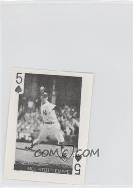 1969 Globe Imports Playing Cards Gas Station Issue [Base] #5S - Mel Stottlemyre