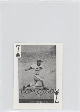 1969 Globe Imports Playing Cards Gas Station Issue [Base] #7S - Don Mincher