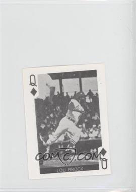 1969 Globe Imports Playing Cards Gas Station Issue [Base] #QD - Lou Brock