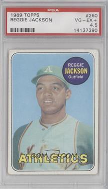 1969 Topps - [Base] #260 - Reggie Jackson [PSA4.5]