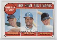 American League Home Run Leaders (Frank Howard, Willie Horton, Ken Harrelson)