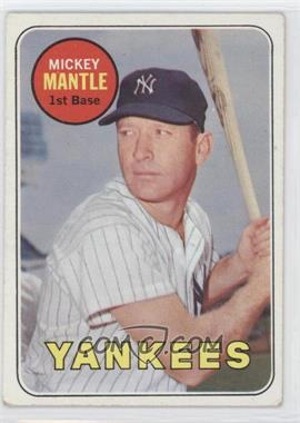 1969 Topps - [Base] #500.1 - Mickey Mantle (Last Name in Yellow) [Good to VG‑EX]