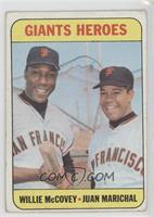 Willie McCovey, Juan Marichal [Good to VG‑EX]