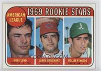 American League 1969 Rookie Stars (Bobby Floyd, Larry Burchart, Rollie Fingers)